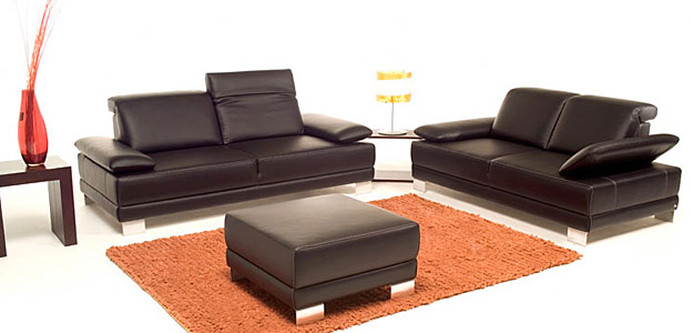 Divani pelle moderni divani in pelle bianca moderni i for Divani moderni pelle